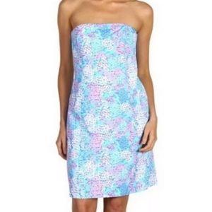 Lilly pulitzer franco dot dot Strapless dress